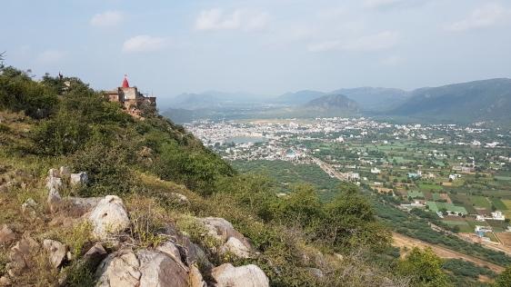 Vue depuis Savitri Temple