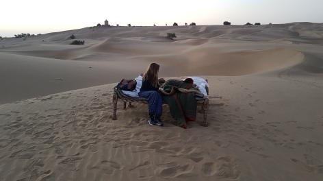 Campement après notre nuit dans le désert