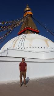 Antoine sur la Stupa :)