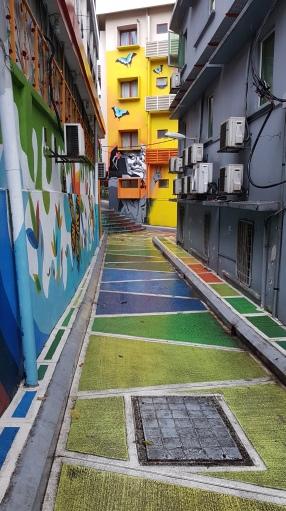 Une ruelle colorés
