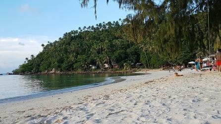 ProcesLa plage derrière notre bungalow !