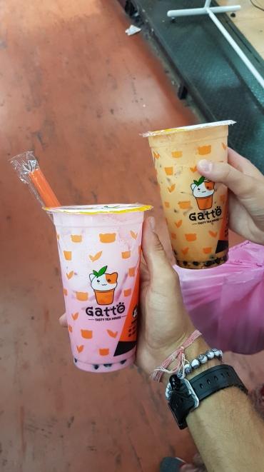 Délicieuses boissons à base de thé et de bubble
