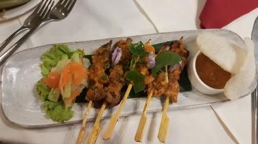 Brochettes poulet-satay