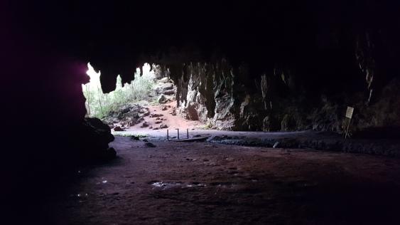 Depuis l'intérieur de la grotte